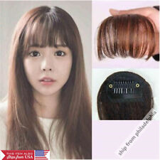 Hair Clip in Bangs Thin Hair Extension False Hair Piece Clip on Front Neat Bang