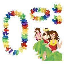 Hula Hawaiian Set Flower Garland Lei Hen Party Fancy Dress Accesory 1st Class UK