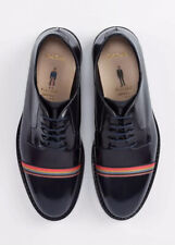 Zapatos De Cuero Paul Smith Para Mujer Azul Marino A Rayas artista Chester UK 4 EU 37 Nuevo Caja