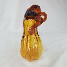 Crackle Blown Art Glass Pumpkin