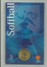 2000 SYDNEY OLYMPIC GAMES SOFTBALL  PICTOGRAM  COIN  #21 CLOSING DOWN