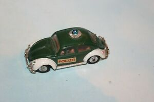 Corgi Toys Volkswagen VW Beetle 1200 Polizei made in Gt. Britain 1/43 scale