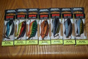 Rapala Fishing Lure Lot of 7 Rapala RVB-6 Rap-V Blade Rattling Fishing Lures NIB