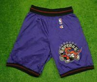 Toronto Raptors Vintage Champion Shorts Size S (28-30) Purple NBA Basketball
