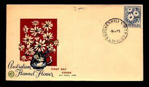 Australia 1959 Flannel Flower FDC / Fold - N607