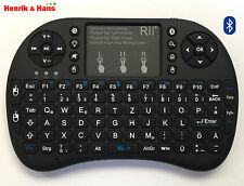 Rii i8+ Mini Bluetooth Funk Tastatur Touchpad Wireless Keyboard Backlit Deutsch