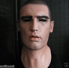 Latex Mask DOMINIC - Realistic Male Face Rubber Gum Skin Effect Man Disguise