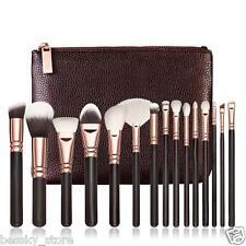 15pcs Pro Makeup Brush Kit With Bag Foundation Eyeshadow Eyebrow Eyeliner Brush