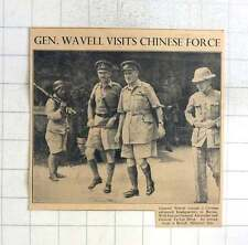 1942 Gen Wavell Visits Chinese Force In Burma Tu Lee Ming