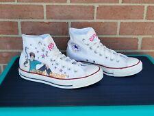 Unisex Converse White Hi-Top JUSTIN BIEBER Shoes Size Mens 7, Womens 9