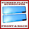 2x Number Plate Surrounds Holder Chrome for Dodge Nitro