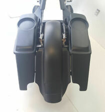 "4"" Harley Davidson Stretched Saddlebags Fender Replacement Dual Cutout 6.5"" Lids"