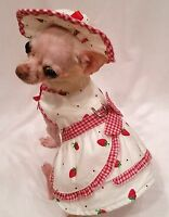 Harness Dress/Dog dress/Dog clothes/Strawberries & Cream Set -XS,S,M,L-FREE SHIP