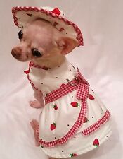 New Straberries and Cream Harness Set/Dog dress/Dog clothes/chihuahua xs,s,m,l