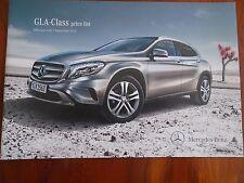 Mercedes GLA Class price list brochure Dec 2013