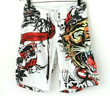 Ed Hardy Mens Tiger Skulls Dragon Tattoo Swimming Board Shorts Size Small