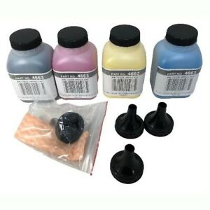 4 Toner Refill Set for Brother TN-221 TN-225 HL-3140CW HL-3170CDW with Funnels