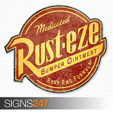 RUSTEZE STICKER Distressed Large 45cm Vinyl Car Sticker JDM Bomb Wall Art
