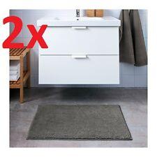 2x IKEA TOFTBO Anti-Slip Microfibre Bath Mat Bathmat Bathroom Rug 60 x 90cm Grey