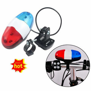 New Cycling Bike Accessories Electric Horn 4 Sounds Bicycle Police Siren Lights-