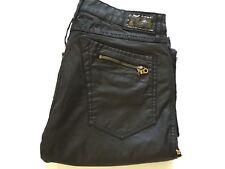 Robin's Jean Men The Show Straight Leg With Zipper Designed Blk/Mustard Size 36