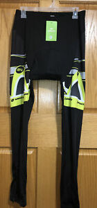 Mens SPONEED Padded S.A.T. Cycling Pants Bicycle/Biking - Size XL Black/Green