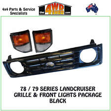 Grille Black fit Toyota Landcruiser 78 79 Series + Front Indicator Park Lights