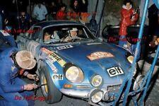 Jean-Claude Andruet Alpine-Renault A110 1800 Monte Carlo Rally 1973 Photograph 6