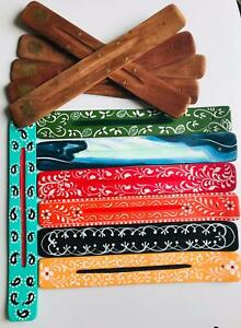 Wooden Incense Stick Holder  Ash Catcher Design may vary FREE POSTAGE