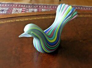 Glass Murano Striped Bird Dino Martens Style