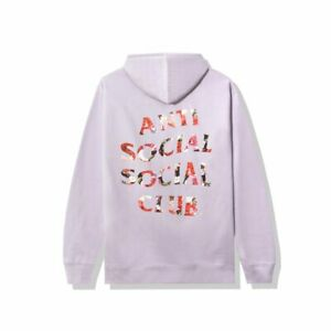 DS SS21 Anti social social club Bed Lavender Hoodie S Auth ASSC New