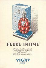 CARTE PARFUMEE HEURE INTIME VIGNY -  PERFUME CARD ADVISING