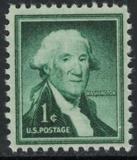 Scott 1031, Wet Printing- MNH- 1c George Washington- Liberty Series, 1954