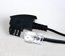 2m TAE-F Kabel RJ45 8P2C Stecker 2,0 m DSL Box Router VoIP 2pol kurz 2,0m 1 VDSL
