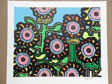 "Kip Frace ""Sunflowers-Blue""  Serigraph Hand Signed & Numbered Great Print !!!!"