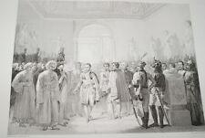 NAPOLEON LOUVRE DEPUTES ARMEE GRAVURE 1838 VERSAILLES R1077 IN FOLIO