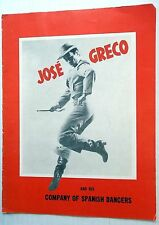 JOSE GRECO 50's TOUR PROGRAM Playbill FLAMENCO Dance SPANISH Latin