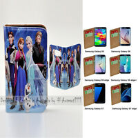 For Samsung Galaxy S7 S6 edge/+ S5 Case - Disney Frozen Print Wallet Phone Cover