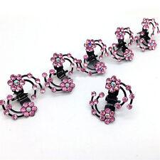 6Pcs Mujer Horquilla Clip Espiral Spin de perno tornillo Pinzas De Pelo Cristal