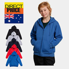Kids Fleece Hoodie Unisex Full Zip 80% Cotton Soft Quality guarantee 5 Colors