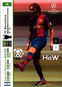 PANINI Champions League 2007/08 - Gabriel Milito - Nr. 28 - F.C. Barcelona