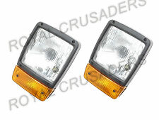 JCB BACKHOE DUMPERS FRONT HEADLIGHT WITH H4 BULB AND INDICATOR ASSEMBLY (PAIR)