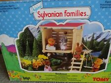 Sylvanian Families Boxed Complete Vintage Tomy Tree House With Swing Mint in Box