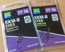 Preston KKM-B Eyed Barbless Hooks size 16 x 2 pkts