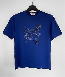 HERMES Brazilian Horse Print Cotton Crew Neck T-Shirt - M
