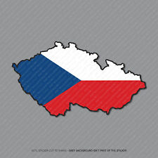 Etiqueta engomada de la bandera de mapa Checa-Coche-Laptop-Macbook Notebook - 2942