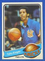 TOBY KNIGHT autographed  signed 1979-80 Topps New York Knicks