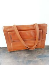 Vintage Sienna Leather Theodor Compartment Top Handle Bag