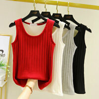 Women's Tank Top Sleeveless Thermal Underwear Vest Elastic Fleece Lined Warm