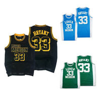 Throwback Kobe Bryant #33 Lower Merion High School Jerseys Green Stitched Shirts